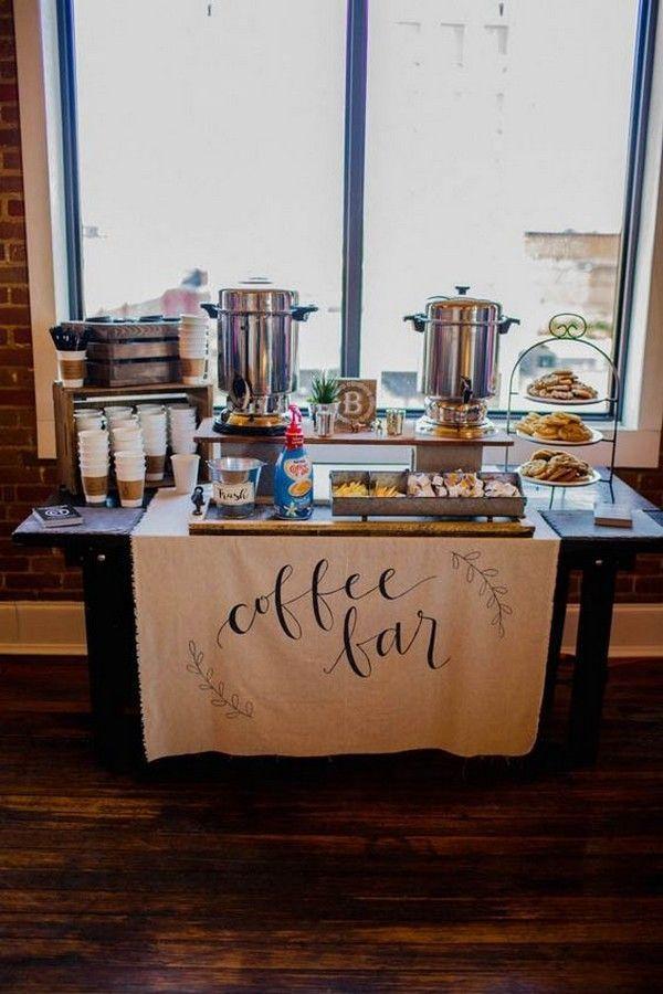 Herbst Hochzeit Kaffee Bar Getränk Station Ideen #obde # weddingideas2019   - Wedding Ideas 2020 #coffeebarideas