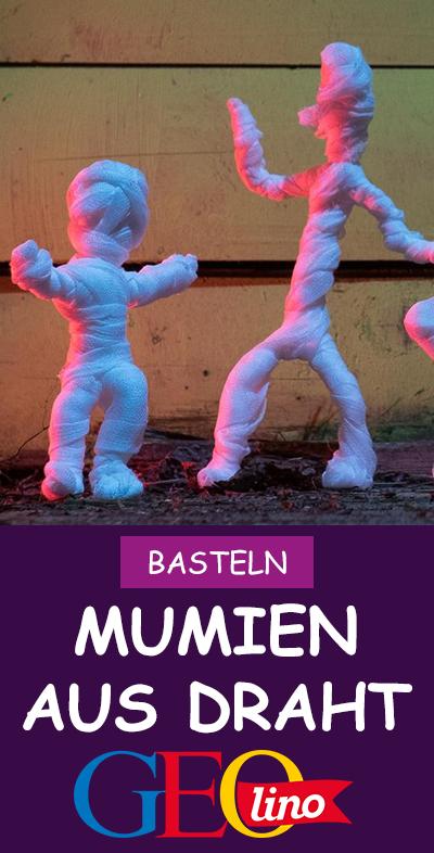Halloween: Mumien basteln