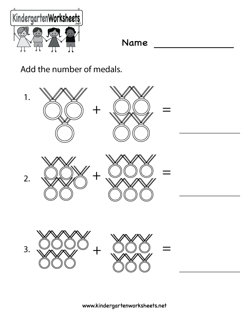 Kindergarten Olympics Math Worksheet Printable | Classroom ...
