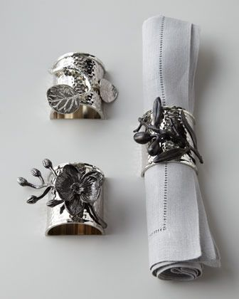 Michael Aram Four Botanical Leaf Napkin Rings On Shopstyle Com Michael Aram Black Orchid Napkin Rings Michael Aram