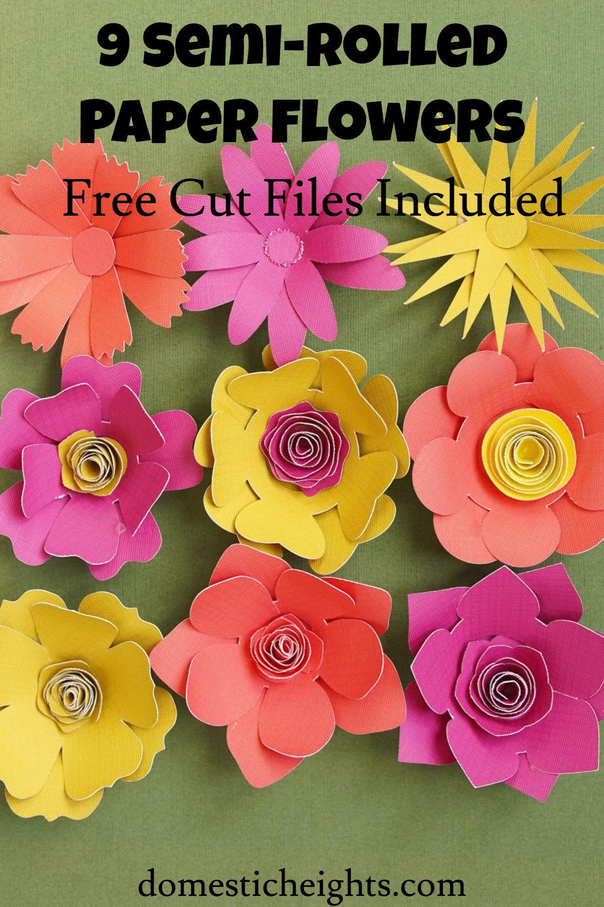 Semi Rolled 3d Paper Flowers Cricut Paper Flowers 3d Paper