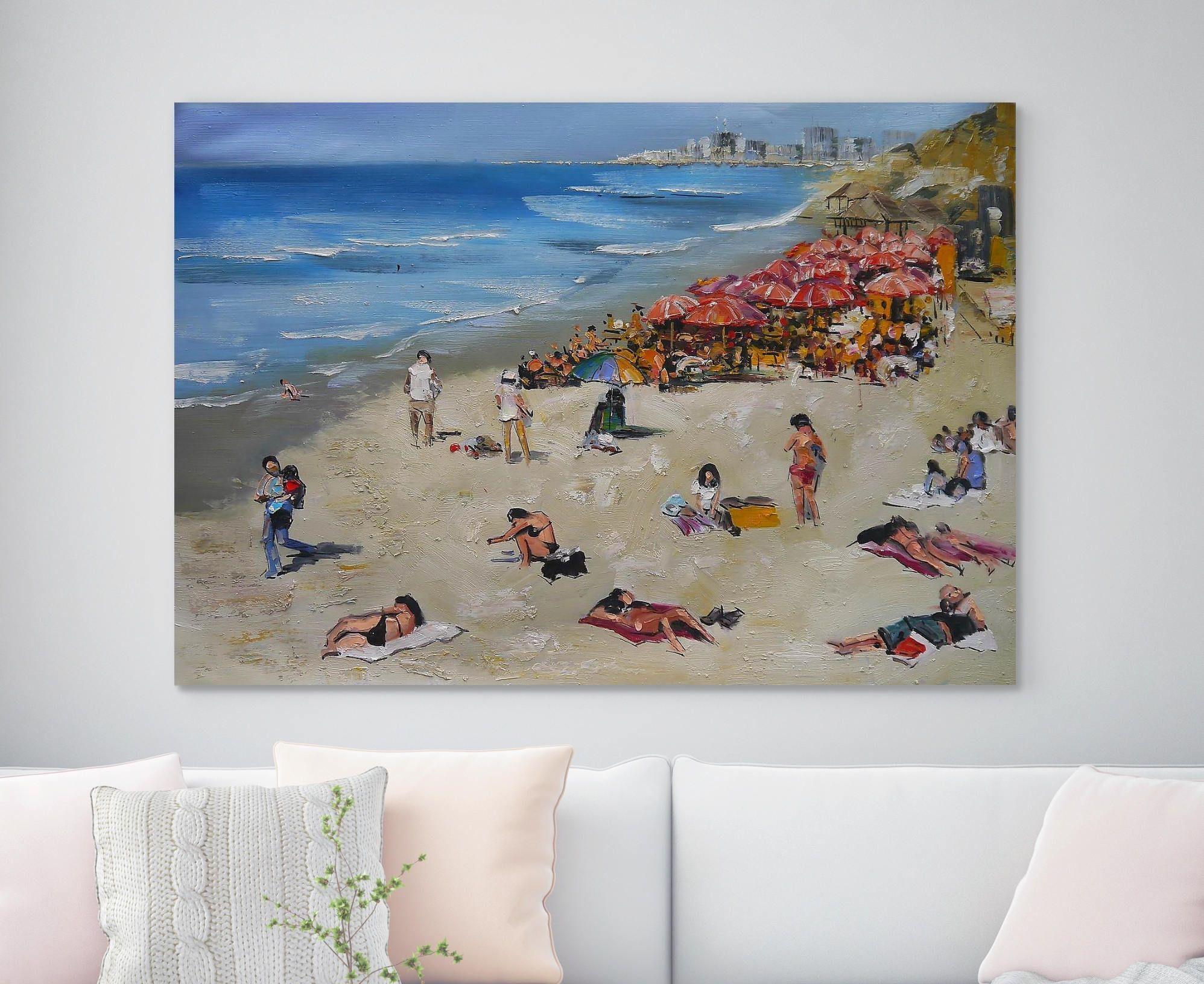 Large Beach Painting Original Art Beach Art Oil Painting On Canvas