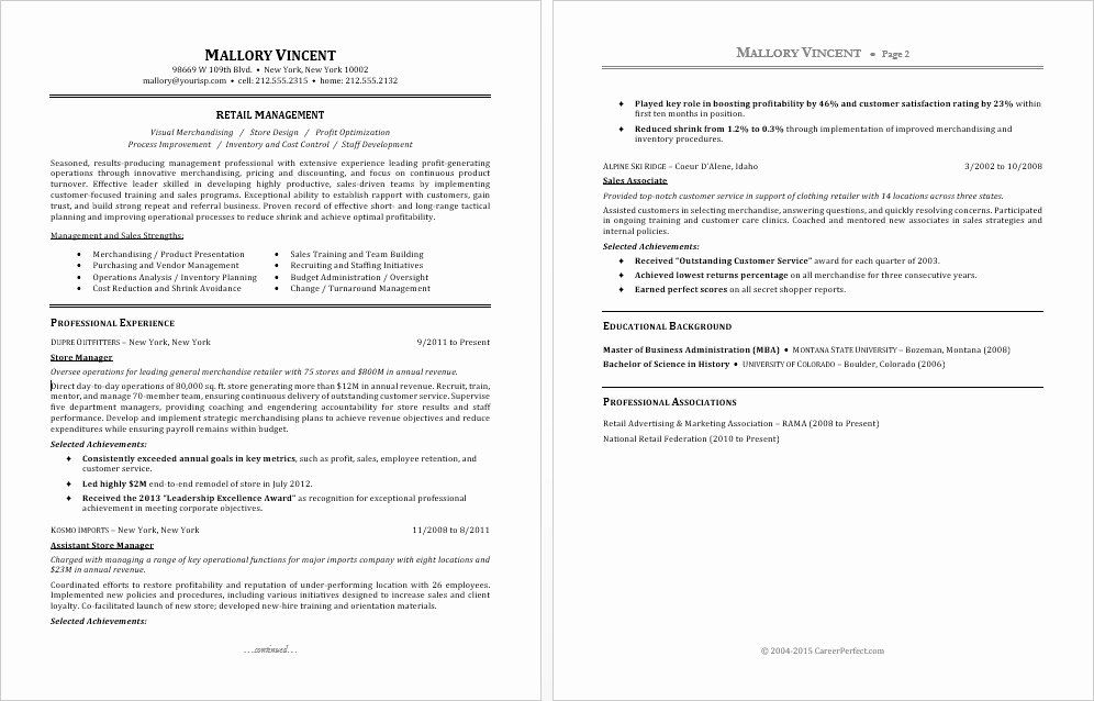 40 Retail Store Manager Resume in 2020 (With images