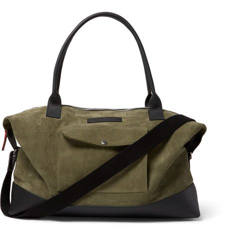 Oliver Spencer's Leather -Trimmed Suede holdall