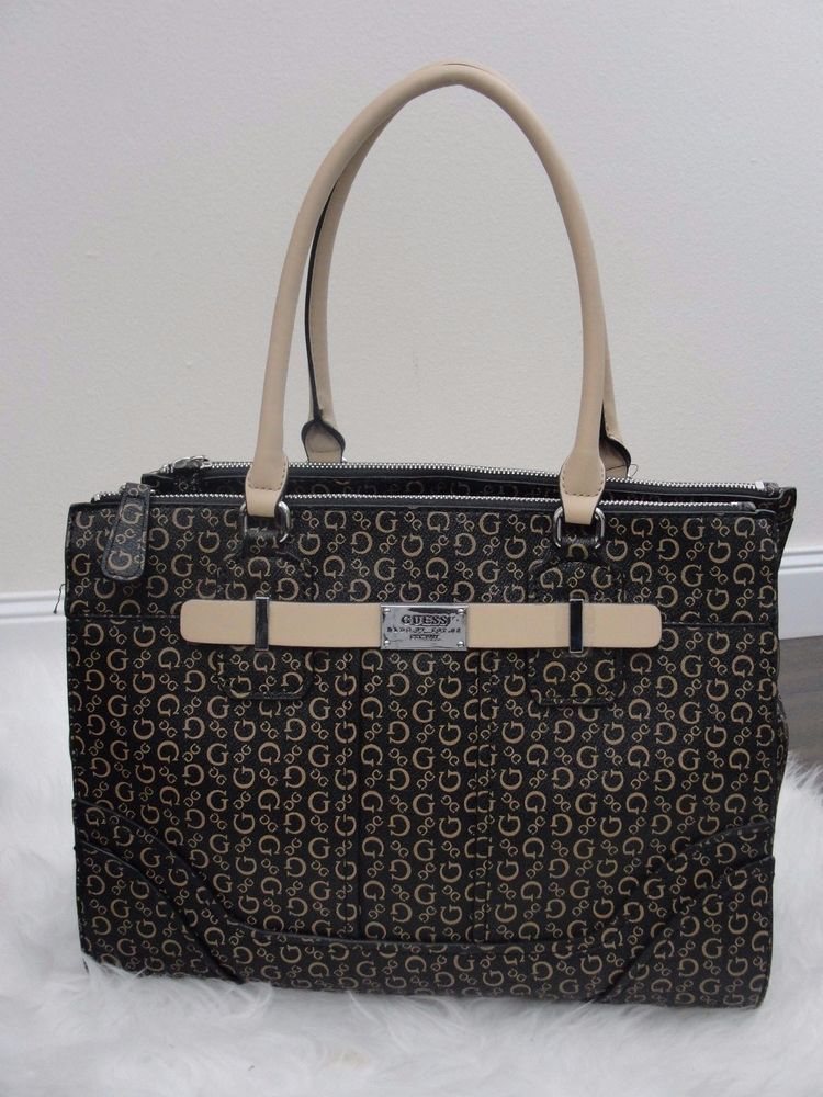 GUESS ACME LOGO PRINT CARRYALL LARGE TOTE SATCHEL $99 #GUESS