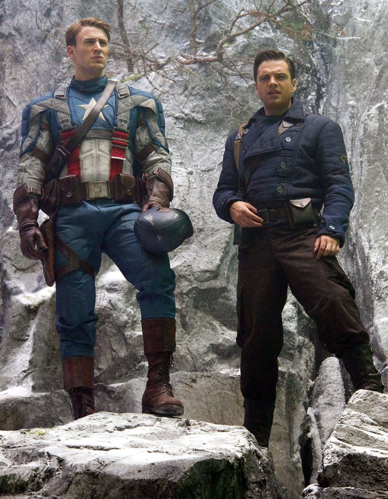 Behind the scenes image of captain america the first