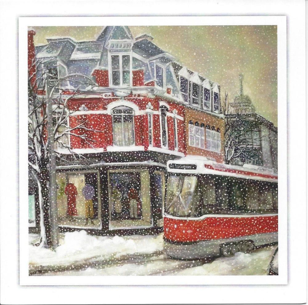 Toronto & TTC Streetcar Inspired Holiday Cards