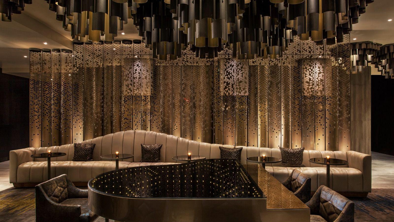 W New York Times Square Living Room Piano Bar