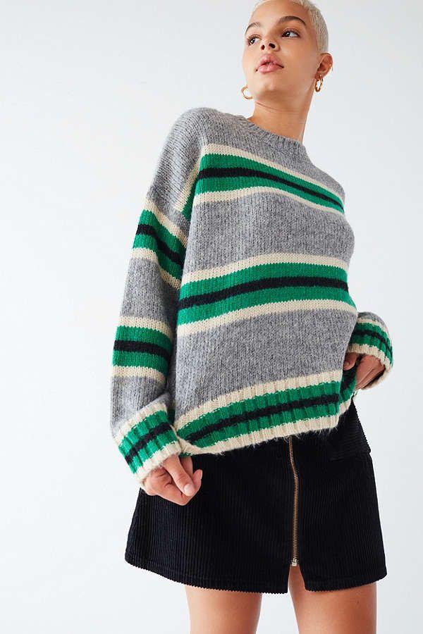 UO Oversized Striped Boyfriend Sweater | Boyfriends, Fall winter ...