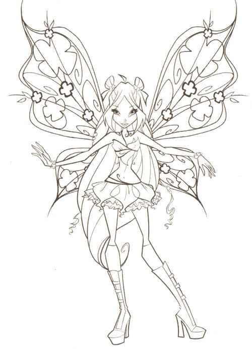Printable Winx Club Coloring Pages | Kids Coloring Pages | Pinterest ...