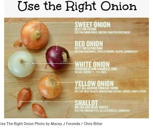 Use the right onion......