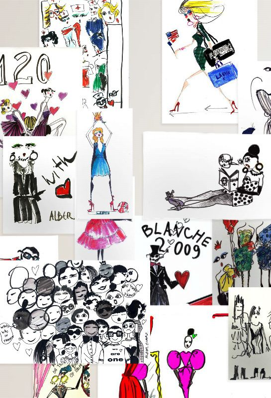 1df28a9b2ab alber elbaz illustrations   On the web site of Lanvin, Alber Elbaz the art  director of the French .