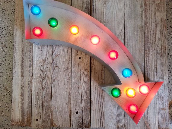 Vintage Curved Arrow Lighted By AmericanVintageInc