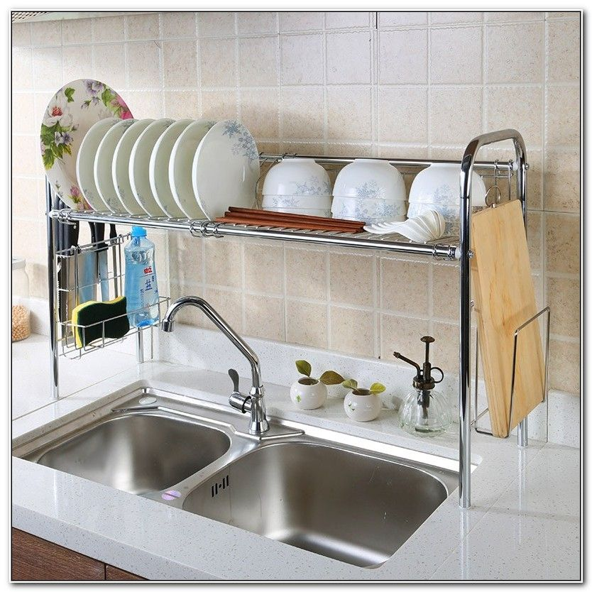 Dish Drying Rack Over The Sink With Images Kitchen Sink Decor