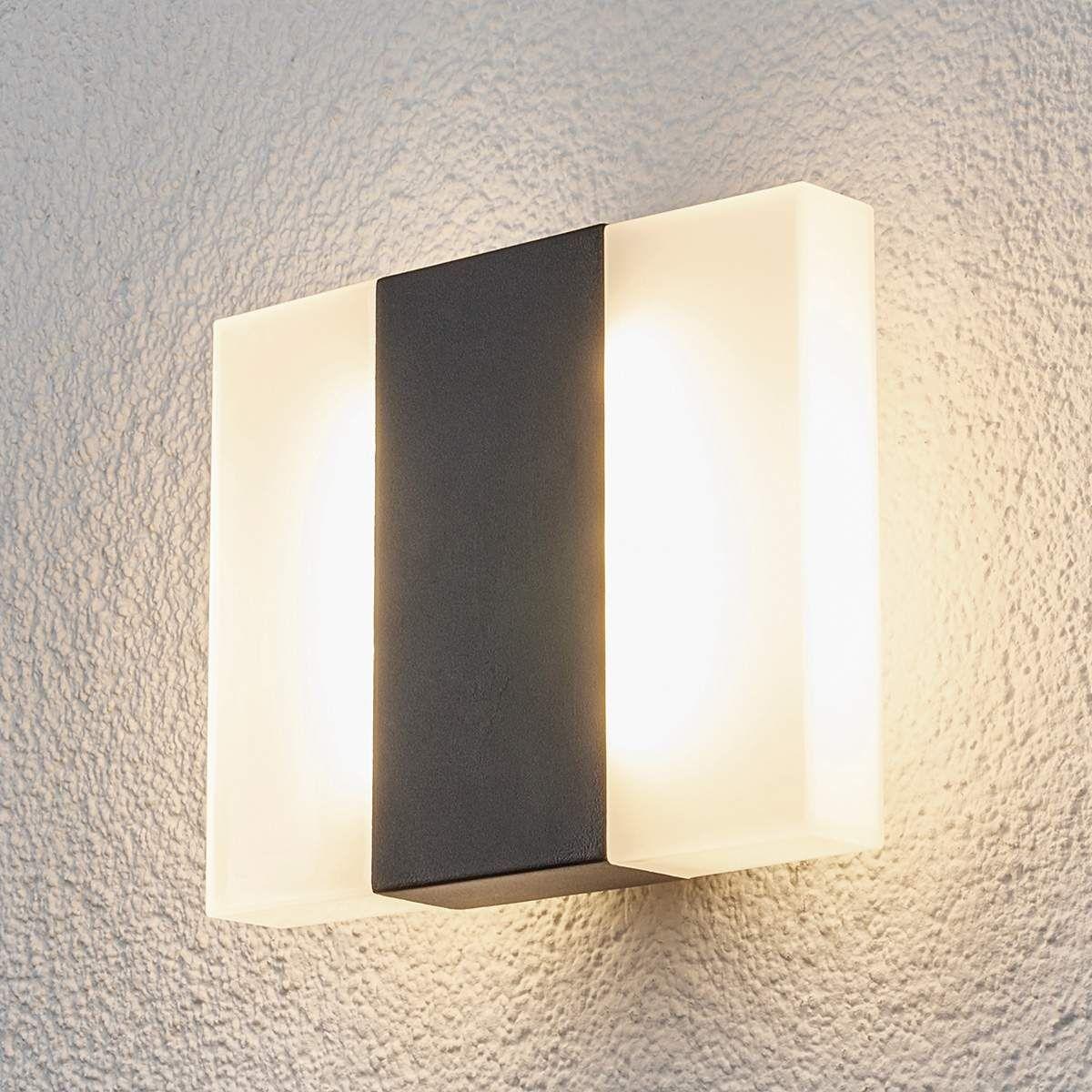 LED Außenwandlampe Siara Weiß Gewölbte Form Wandleuchte Wand Lampe Lampenwelt