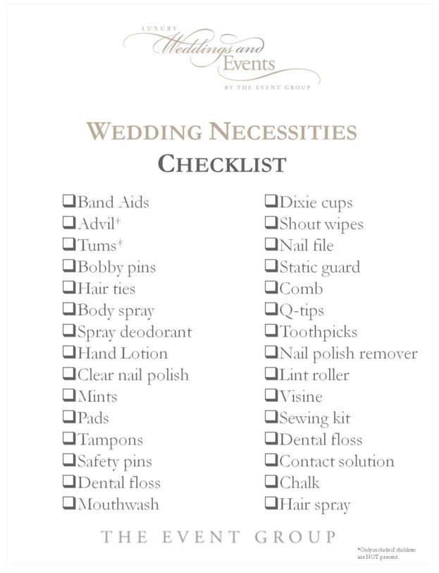 The Wedding Checklist Every Bride and Bridesmaid Needs Wedding - wedding checklist