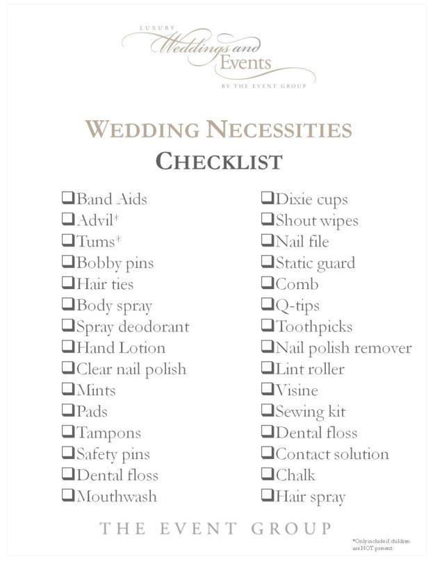 The Wedding Checklist Every Bride And Bridesmaid Needs Wedding Checklist Wedding Necessities Bridesmaid Checklist