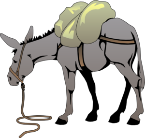 cartoon mule donkey with a load clip art vector clip art online rh pinterest co uk donkey clip art black and white donkey clip art pictures