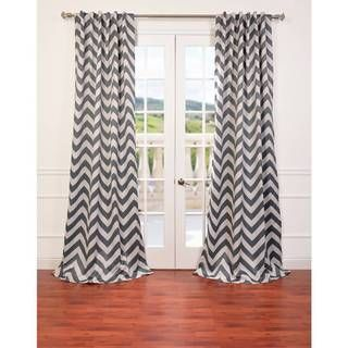 Fez Grey Tan Blackout Curtain Panel