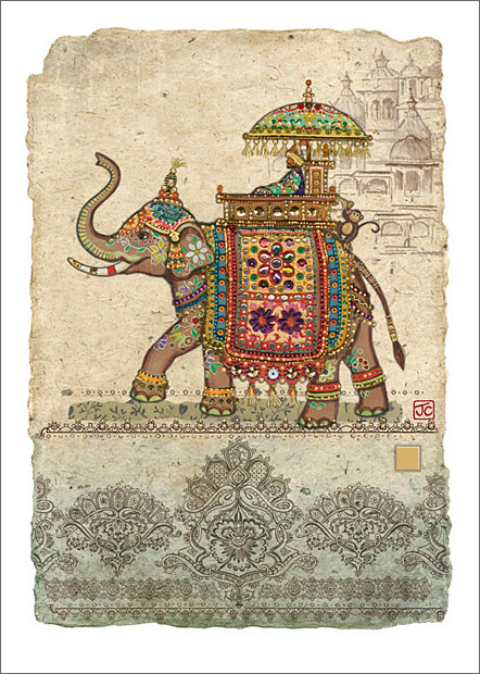 Elephant Collage Design By Jane Crowther Bug Art