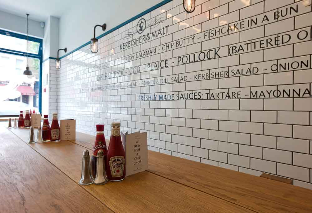 Subway Tile In Fish Chips Shop London With Images Fish And