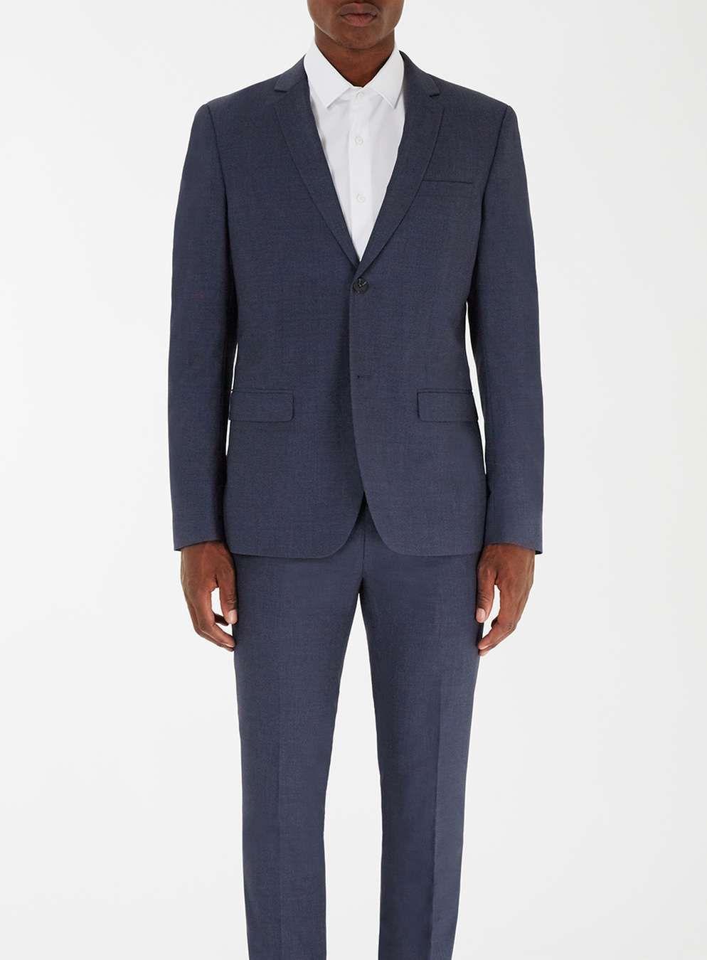 Blended Blue Skinny Fit Suit - Men\'s Suits - Clothing - TOPMAN | M&T ...