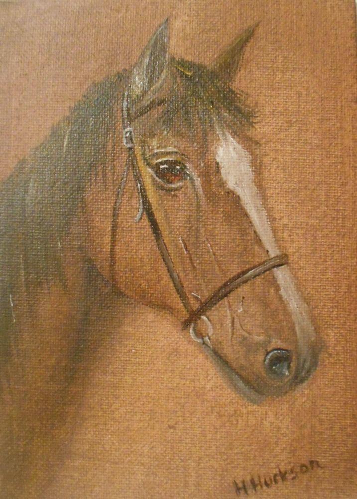 Racer  Original Oil Painting 7 x5