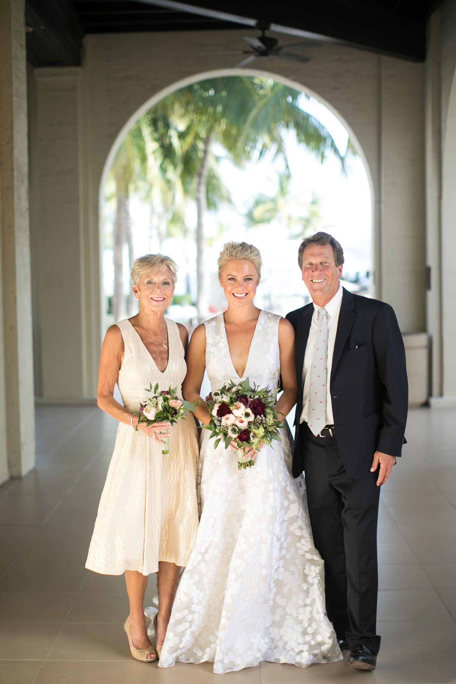 Fall Destination Wedding On The Beach In Key West Florida Inside Weddings Beach Wedding Attire Wedding Inside Beach Wedding Guest Dress,Wedding Mother Daughter Combo Dress India