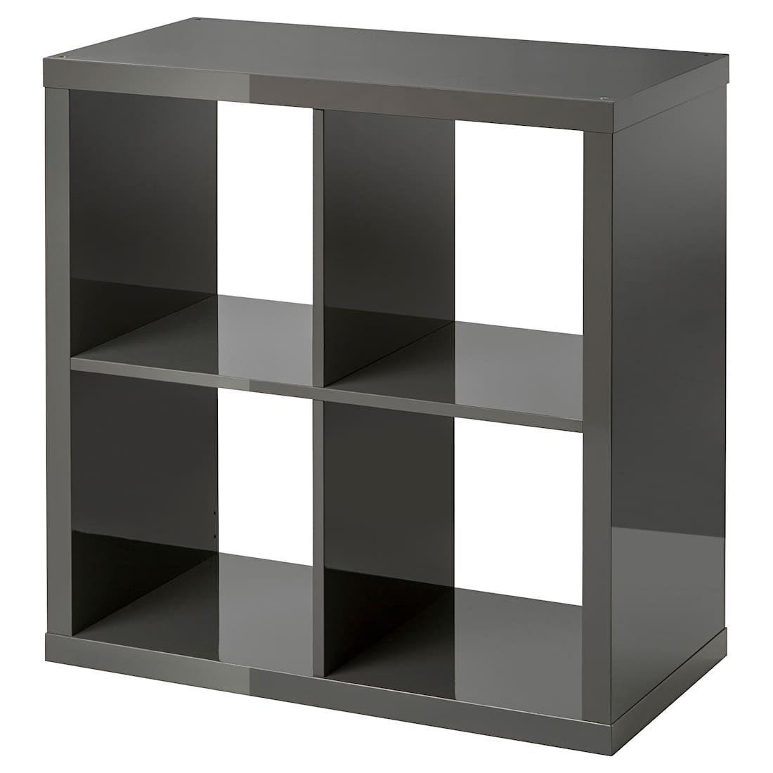 Kallax Shelf Unit High Gloss Gray 30 3 8x30 3 8 With Images