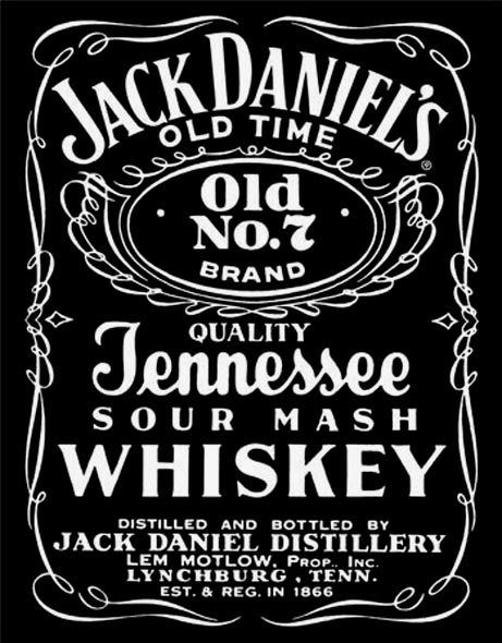 Jack Daniels Label Tin Sign Jack Daniels Label Jack Daniels Logo Jack Daniels