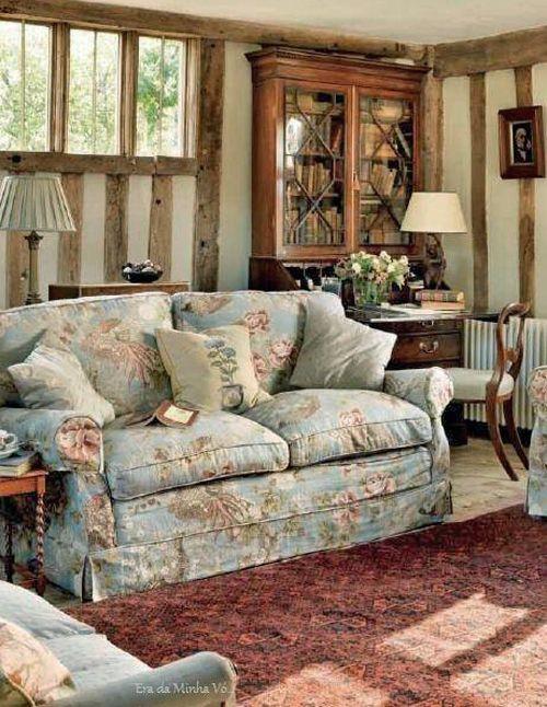 Pin di ilaria damonte su sala decoraci n inglesa casas for Interni case inglesi
