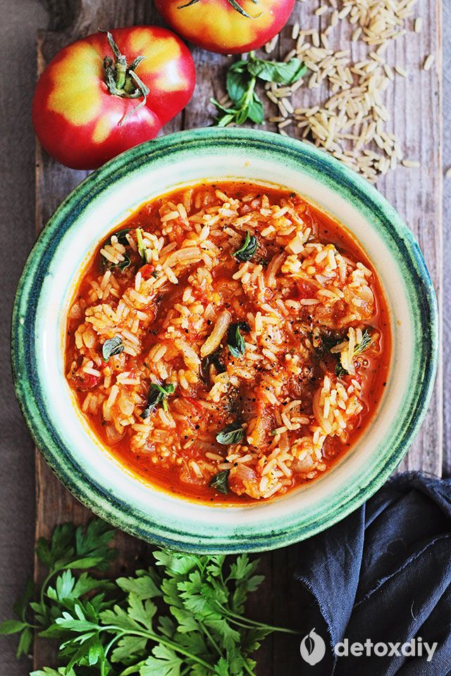 Dinner: Brown Rice Paella - Detox DIY