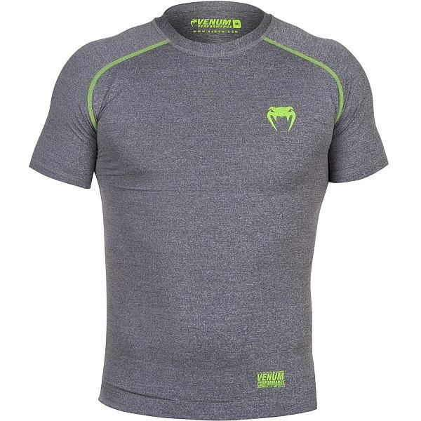 HEATHER GREY UFC MMA VENUM CONTENDER 2 COMPRESSION T-SHIRT LONG SLEEVES