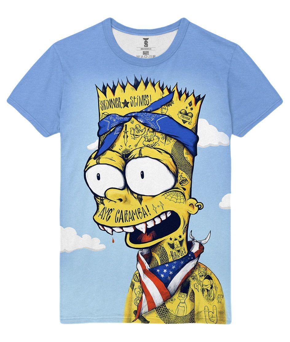 0b8ee90f63ea awesome T-shirt Caramba The Simpsons Bart Simpson Tatoos Pop Art Loot Merch  - #amazon #Apparels #australia #boy #buy #ebay #Female #girls #india #kids  #loot ...