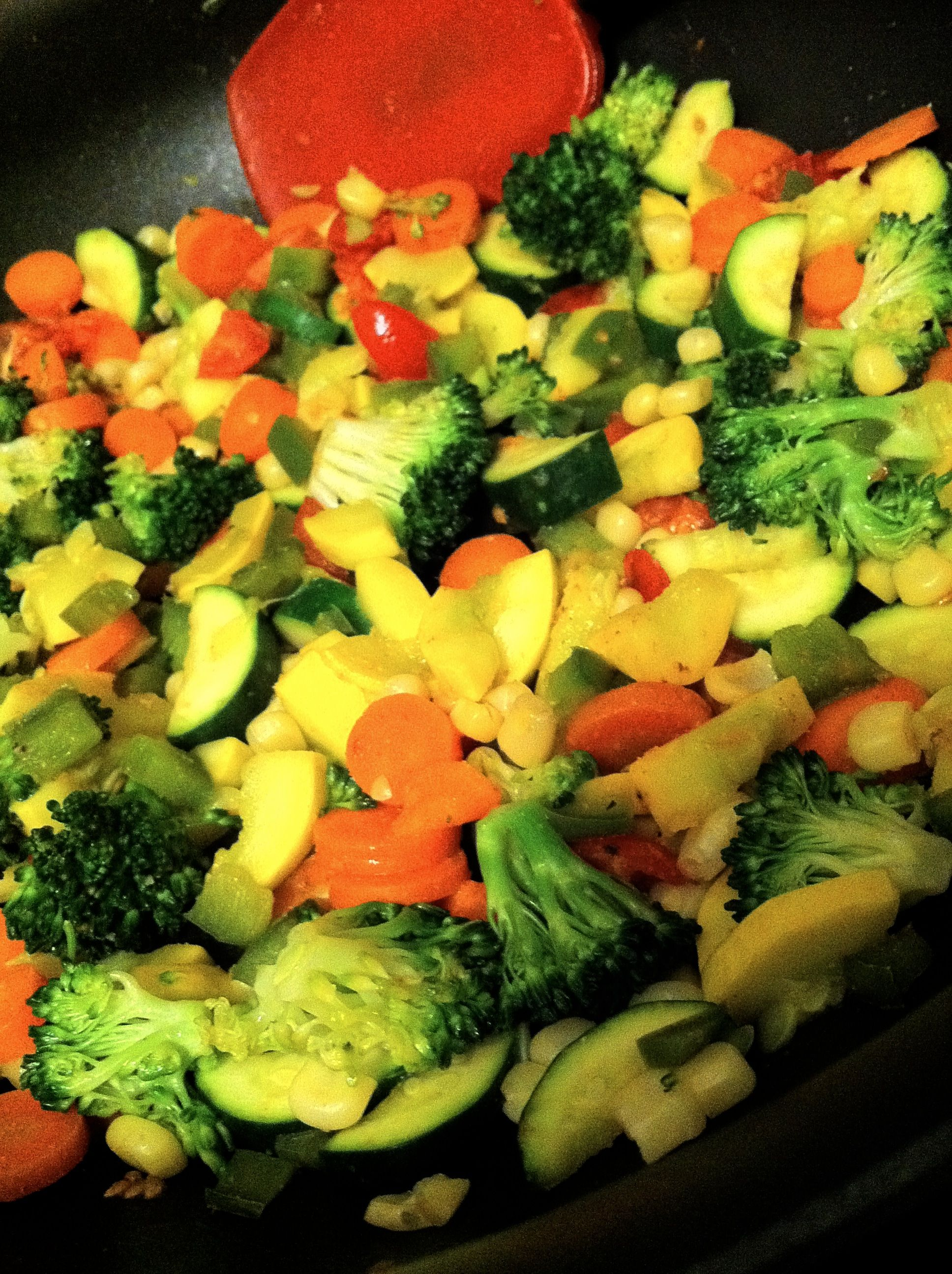 Straight vegetable stir fry - can not get enough of my veggies.