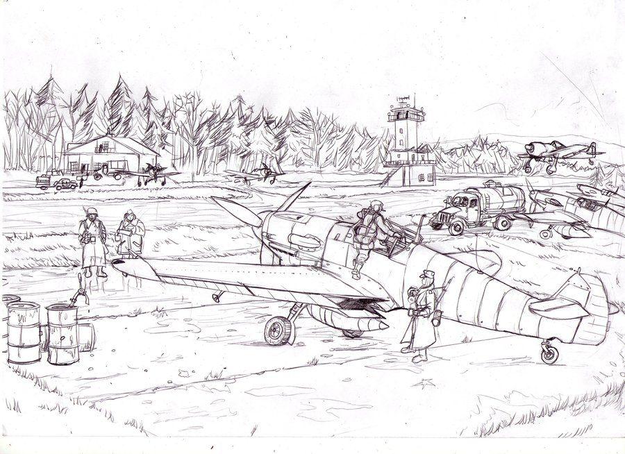 Luftwaffe Personnel Around A Bf 109 G 2 Fw190a4 Is Landing History War World World War