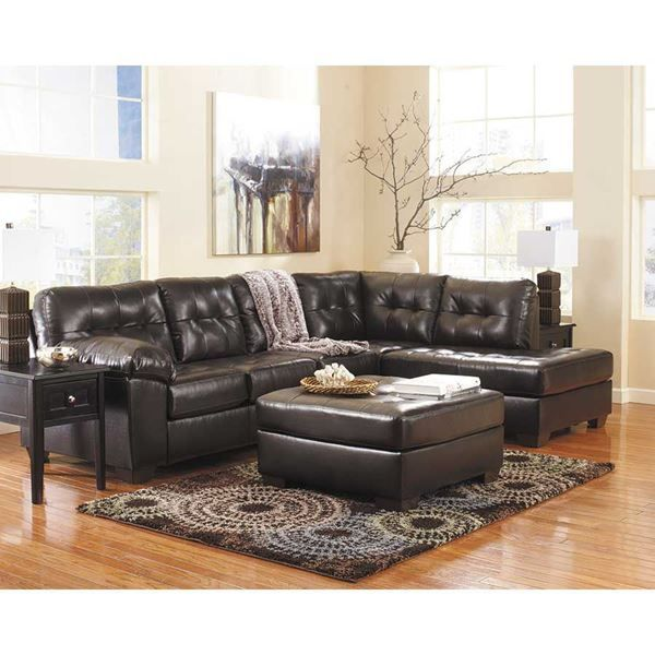 Best Alliston Chocolate 2Pc Sectional W Laf Chaise Home 400 x 300
