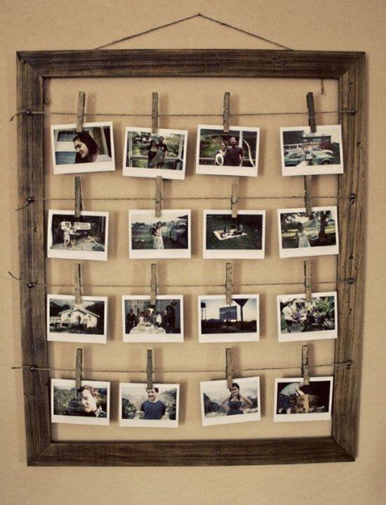Ideas originales y creativas para enmarcar tus fotos | Cuerdas, Me ...