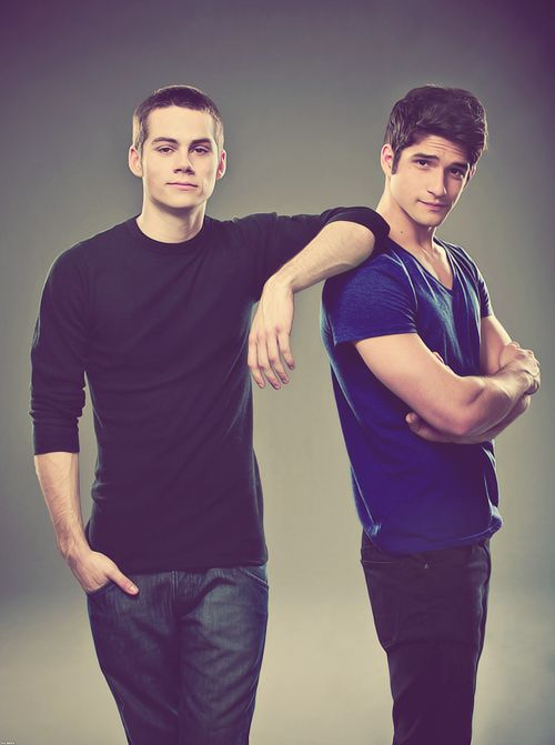 """Dylan O'Brien & Tyler Posey. Teen Wolf.  We will call these two, """"boy crush.""""  Too young, but still handsome as can be."""
