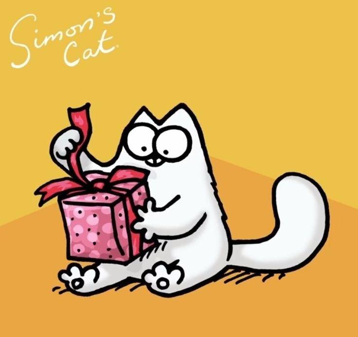 Картинка с днем рождения кот саймона