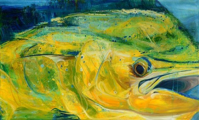 Mahi Mahi Painting Dorado Giclee Saltwater Fish Art Fish Art Art