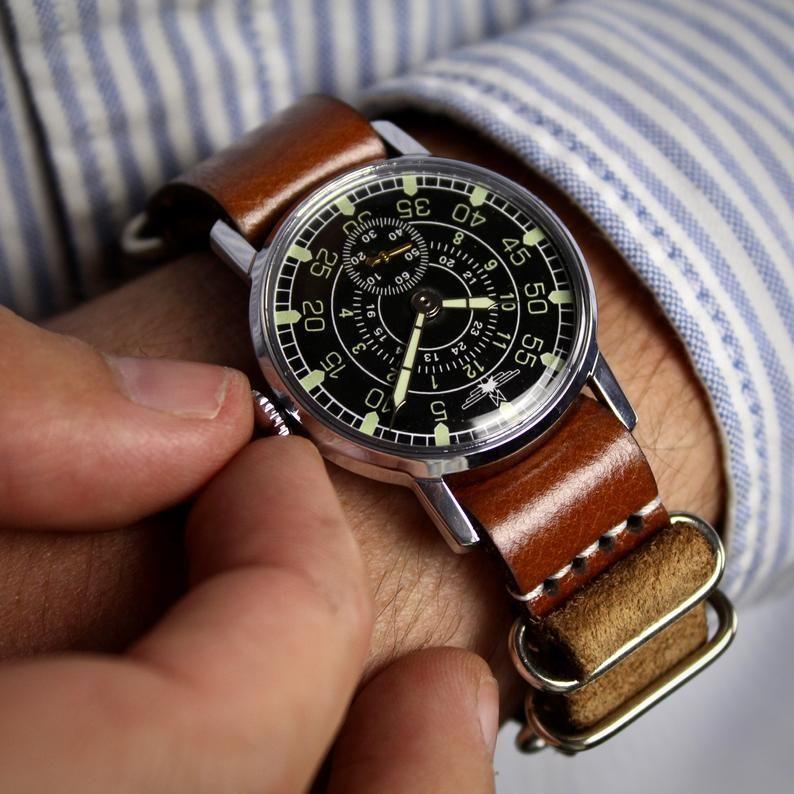 Montre soviétique, montre vintage, montre Aviator, montres