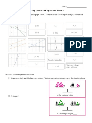 Solving Systems Review Pdf Worksheets Pinterest Worksheets