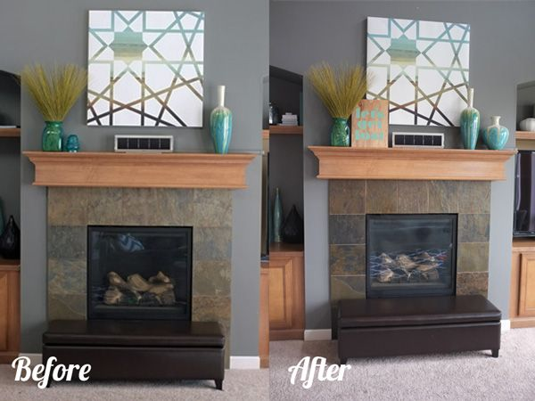 slate tile fireplace surround. Sprucing up the Fireplace  Tile FireplaceFireplace SurroundsSlate Tiled fireplace surrounds