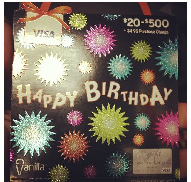 Happy Birthday Gifts Who Doesnt Like Visa Gift Cards