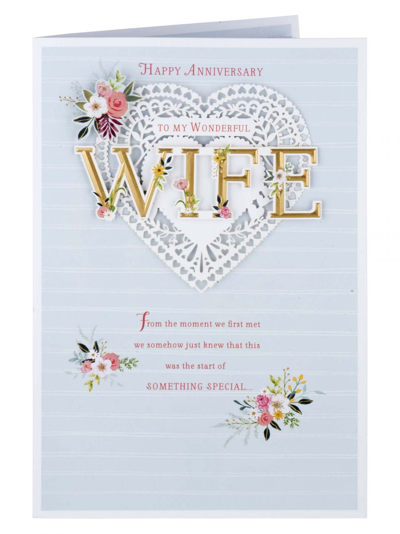 Wife Anniversary Gold Type Card Cards Clintons Birthday Cards Beautiful Greeting Cards Happy Birthday Me