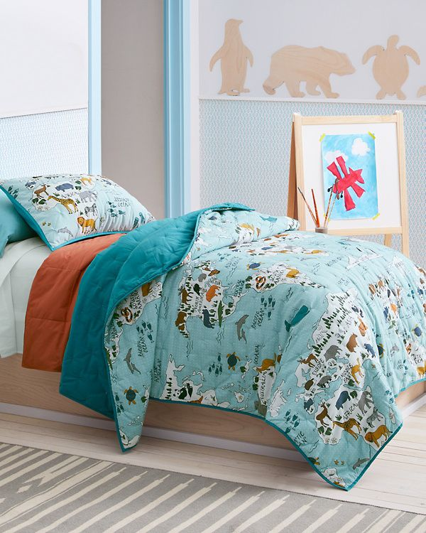 Product 2 Boys Map Quilt Comforters Blanket