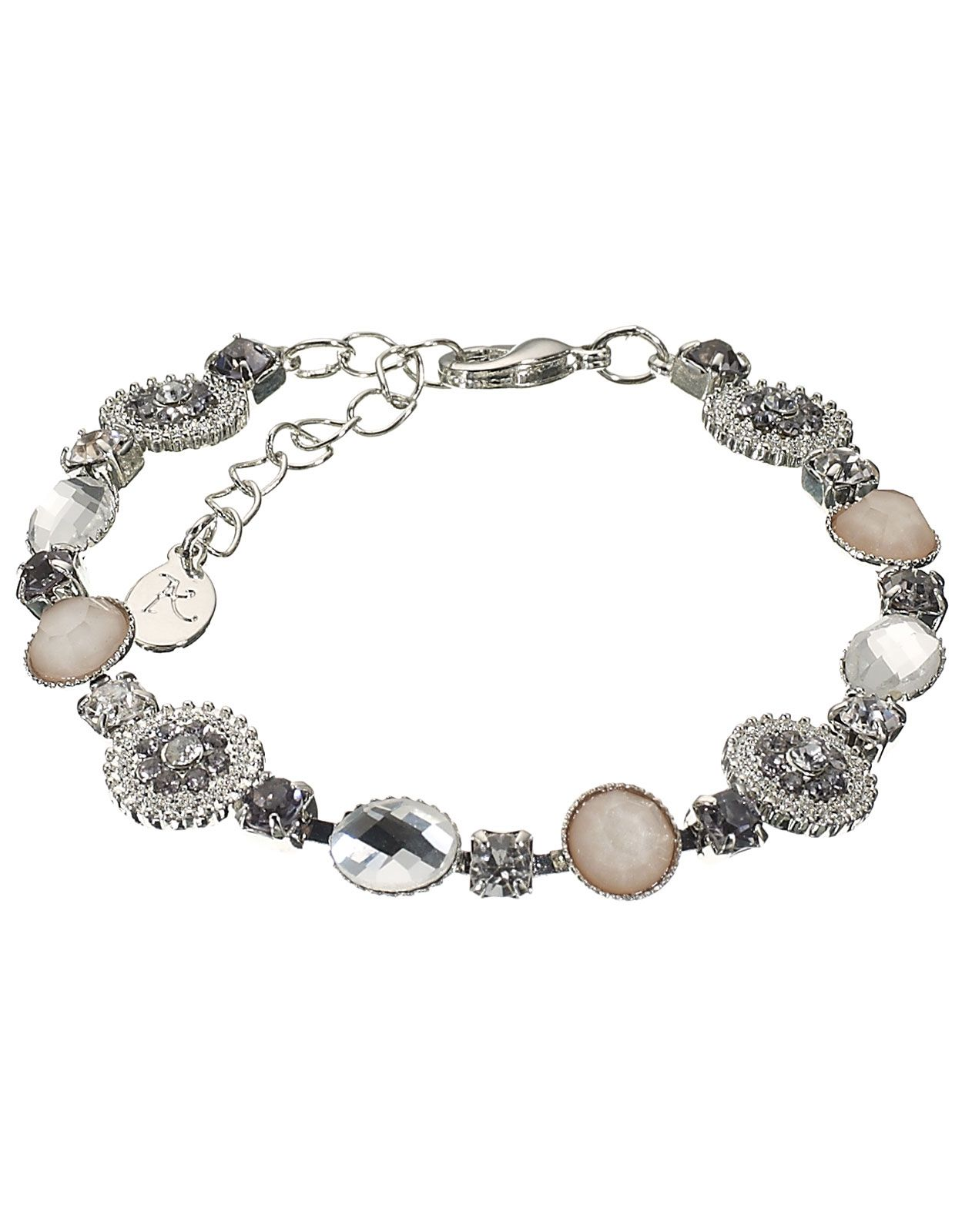 Orchid Clasp Bracelet | Silver | Accessorize