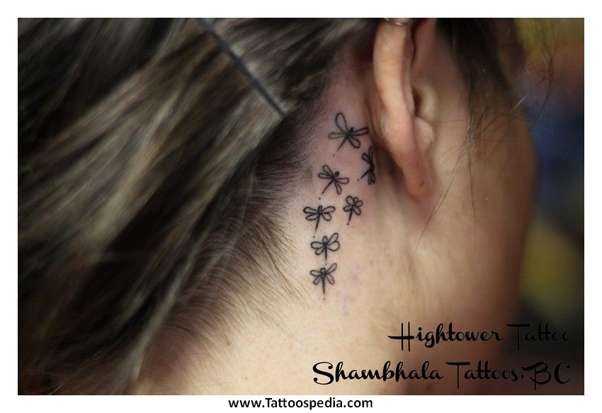 Dove Tattoos Behind The Ear: Dragonfly Tattoos Behind The Ear 6