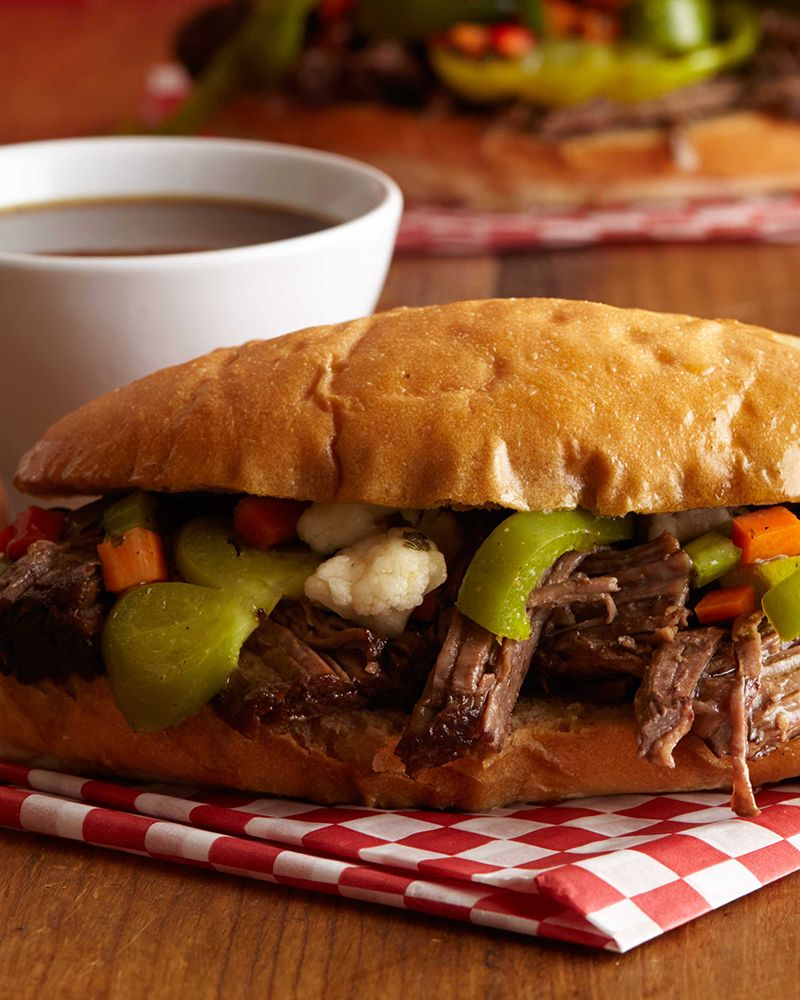Chicago Italian Beef (Pot Roast Style) Recipe from Food Network Favorites